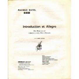"""Ravel """"Introduction et Allegro our harpe, quatuor a corde, flute et clarinette"""" transcription pour piano"""