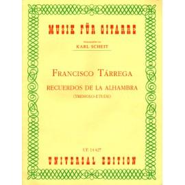 "Tarrega ""Recuerdos de la Alhambra"" tremolo etude pour Guitare"