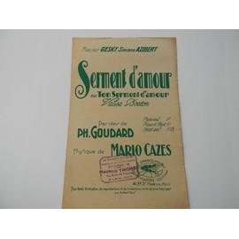 SERMENT D'AMOUR ou Ton Serment d'Amour (Valse Boston) 1929