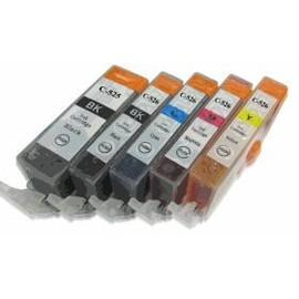 5x Cartouche D'encre Compatible Moreinks - Avec Puce - Cyan / Magenta / Jaune / Noir Pour Remplacer Cli-526/Pgi-525 Pour Imprimantes: Canon Pixma Ip4850 Mg5150 Mg5250 Mg6150 Mg8150 Mx885...