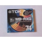 Mini Disc TDK RXG - 74 minutes (recordable)