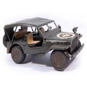 Modele Reduit Miniature Jeep Tout Terrain 4x4 Willys Model Us Army Armee Militaire Americaine Metal Miltec 16435050 Airsoft