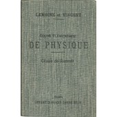 Cours �l�mentaire De Physique de Lemoine Et Vincent