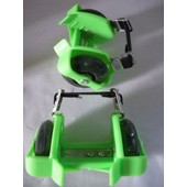Paire Rollers / Patins Flashing Roller Roulettes Vert