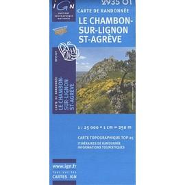 Le Chambon-sur-Lignon / Saint-Agreve 1 : 25 000