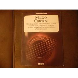 Etudes mélodiques et progressives, opus 60 pour guitare