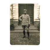 Carte Postale Ancienne, France, Militaria, Militaire En Tenue ( Photo Souvenir De La Grande Guerre )