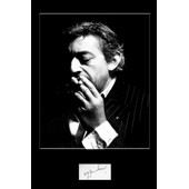 Serge Gainsbourg - Photo Signature Collector - Format 20x30 Cm /9000/