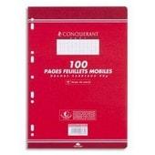 Feuillets Mobiles 21x29,7 Cm 100 Pages Petits Carreaux Blancs 90g Sous �tuis Conquerant Sept