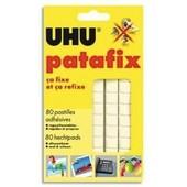 Uhu - Etui De 6 Bandes Pr�d�coup�es De 80 Pastilles - Patafix Blanche