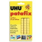 Adh�sifs De Fixation / Etui De 80 Pastilles Adh�sives Patafix Uhu / Jaune Ecole