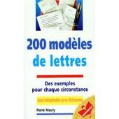 200 Modeles De Lettres de Pierre Maury