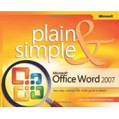 Microsoft Office Word 2007 Plain And Simple de Joyce, J.