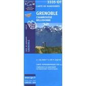 Grenoble Chamrousse Belledonne - 1/25 000 de Ign