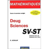 Math�matiques Deug Sciences Sv-St - 3�me �dition de Elie Azoulay