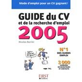 Guide Du Cv Et De La Recherche D'emploi de Nicolas Barrier