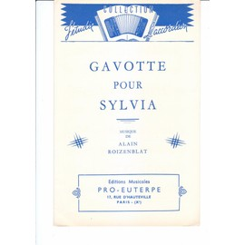 gavotte pour sylvia pour accordéon