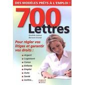 700 Lettres Pour R�gler Vos Litiges Et Garantir Vos Droits de Zoubida Azzouz