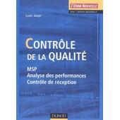 Contr�le De La Qualit�. Msp, Analyse Des Performances, Contr�le De R�ception de Luan Jaupi