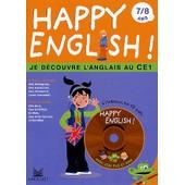Happy English ! 7/8 Ans - Je D�couvre L'anglais Au Ce1, Avec Cd Audio de Katy Najac