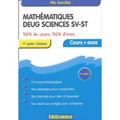 Math�matiques - Deug Sciences Sv-St de Elie Azoulay