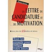 La Lettre De Candidature Et De Motivation de B�atrice Monnet