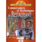 Connaissances Et Techniques De Restaurant - 1�re Et 2�me Ann�e de Christian Ferret