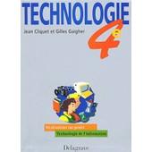 Technologie 4�me de Jean Cliquet