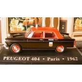 Peugeot 404 Taxi G7 Paris Noire & Rouge 1962 1/43 Ixo Altaya