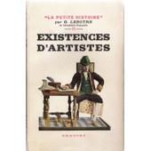 Existences D'artistes - De Moli�re � Victor Hugo de G Len�tre