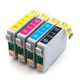4 Cartouche Compatible Epson T1285 (T1281+T1282+T1283+T1284) Pour Stylus S22 Sx125 Sx420w Sx425w Office Bx305f Bx305fw
