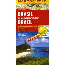 Marco Polo Kontinentalkarte Brasilien / Bolivien, Paraguay, Uruguay 1 : 4 000 000