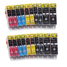 20 Cartouches Encre Avec Puce Compatible Canon Pgi520bk + Cli521bk + Cli521c + Cli521m + Cli521y Pour Imprimantes Canon Pixma Ip3600 / Pixma Ip4600 / Ip4700 / Pixma Mp980 / Mp630 / Mp620 / Mp540 / Mp5