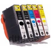 5 Cartouches D'encre Compatible Chip Cli-521 Pgi-520 - Noir (Grande + Petite), Cyan, Magenta, Yellow - Cartrouches D'encre Pour Canon Pixma Canon Pixma Ip 3600 Ip 4600 Ip4600 X Ip4700 Mp 540 Mp 550 Mp