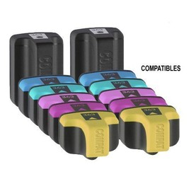 2 X Hp363-Black (45ml) 2 X Hp363-Cyan (18ml) 2 X Hp363-Magenta (18ml) 2 X Hp363-Yellow (18ml) 2 X Hp363-Light Cyan (18ml) 2 X Hp363-Light Magenta (18ml) Compatibility Hp Photosmart 3210, 3310, D7263,