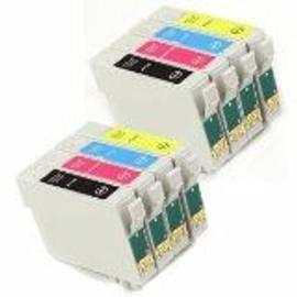 10 Cartouche Compatible Epson T1285 (T1281+T1282+T1283+T1284) Pour Stylus S22 Sx125 Sx420w Sx425w Office Bx305f Bx305fw
