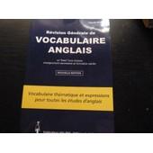 R�vision G�n�rale De Vocabulaire Anglais de Claude Pichon