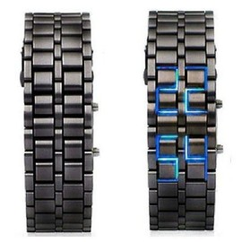 Montre Samourai Fashion Design Black Led Bleu Neuve!!!!