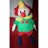 Peluche 55 Cm Kiri Le Clown Avec Poche Dans Le Dos Jemini