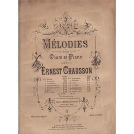 La Caravane Chant et Piano Ernest Chausson mezzo soprano ou baryton