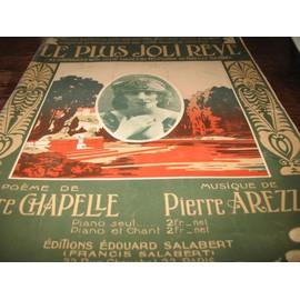 Le plus joli rêve- Dans Boston sur une musique de Pierre Arezzo et poéme de Pierre Chapelle- Partition pour piano-