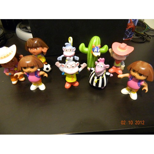 9 figurines personnages dora l 39 exploratrice neuf et d 39 occasion - Personnage dora ...
