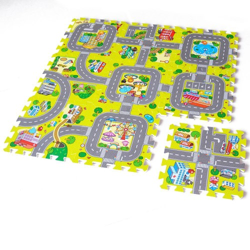9 pcs tapis de puzzle en mousse eva enfant tapis de jeu joint 30x30cm. Black Bedroom Furniture Sets. Home Design Ideas