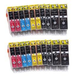 Avec Puce !!! 12 Cartouches D'encre Compatible Pour Les Imprimantes Canon Pixma Ip 4820, 4850, Ix 6520, 6550, Mg 5120, 5150, 5220, 5250, 6120, 6150, 8120, 8150, Mx 882, 885 Compatible � Canon Pgi-525b