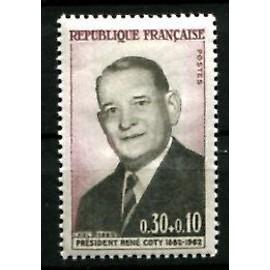 france année 1964 N° 1412 NEUF 2ème anniversaire de la mort du président rené coty