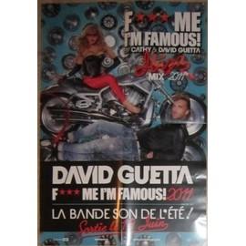 DAVID GUETTA PLAN MEDIA POSTER F***ME I'M FAMOUS ! 2011