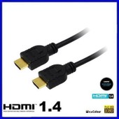 Cable HDMI 2m 1.4 3D Ethernet High Speed 1080p Full HD XBox PS3 Plaqu� OR