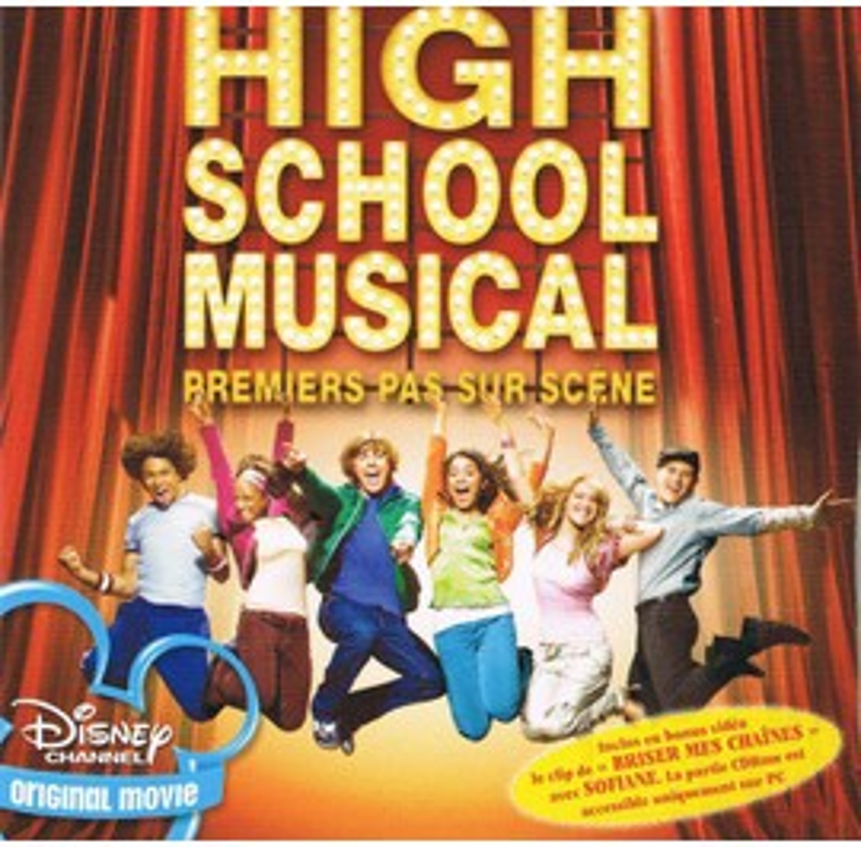 HIGH SCHOOL MUSICAL MINI PLV PREMIERS PAS SUR SCENE