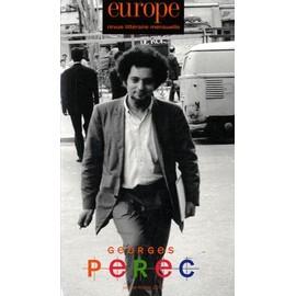 Europe N� 993/994, Janvier- - Georges Perec