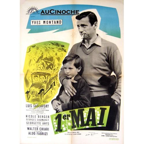 1er mai affiche originale 60x80cm luis saslavsky 1958 yves montant nicole berger aldo fabrizi georgette anys